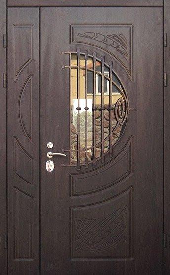 полуторные металлические двери со стеклом купить